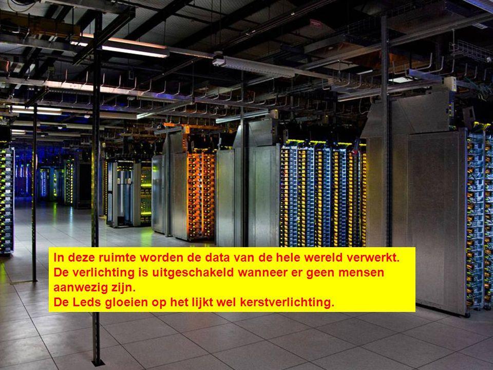 In deze ruimte worden de data van de hele wereld verwerkt.