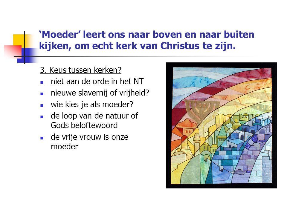 'Moeder' leert ons naar boven en naar buiten kijken, om echt kerk van Christus te zijn.