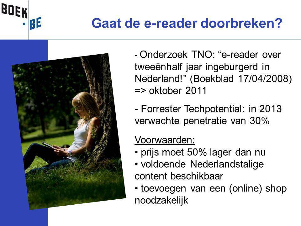 Gaat de e-reader doorbreken.