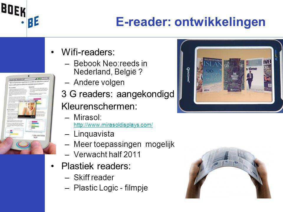 Wifi-readers: –Bebook Neo:reeds in Nederland, België .