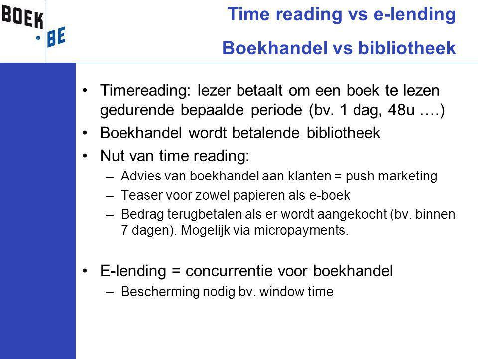 Timereading: lezer betaalt om een boek te lezen gedurende bepaalde periode (bv.
