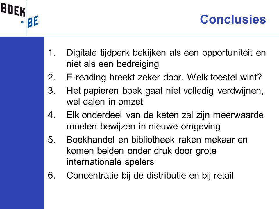 1.Digitale tijdperk bekijken als een opportuniteit en niet als een bedreiging 2.E-reading breekt zeker door.