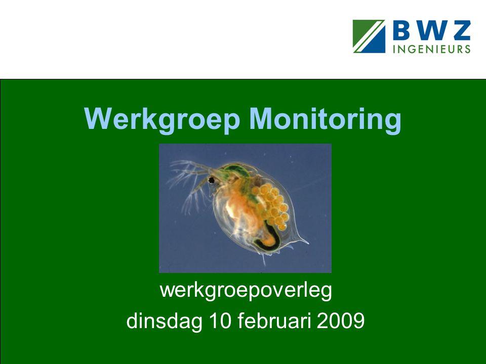 Werkgroep Monitoring werkgroepoverleg dinsdag 10 februari 2009