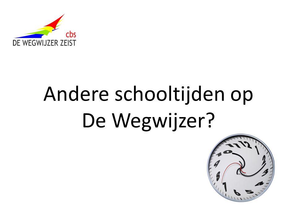 Andere schooltijden op De Wegwijzer?