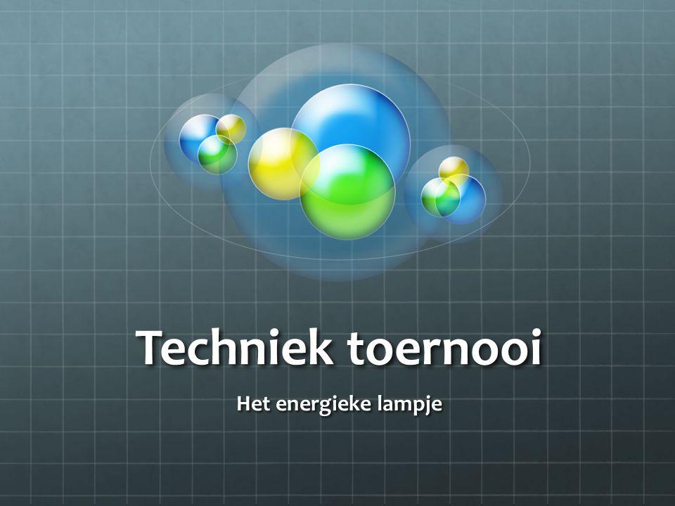Techniek toernooi Het energieke lampje