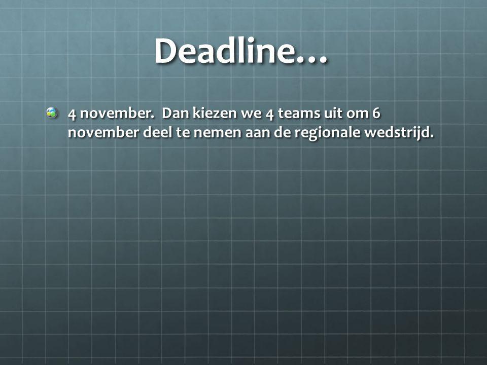 Deadline… 4 november.