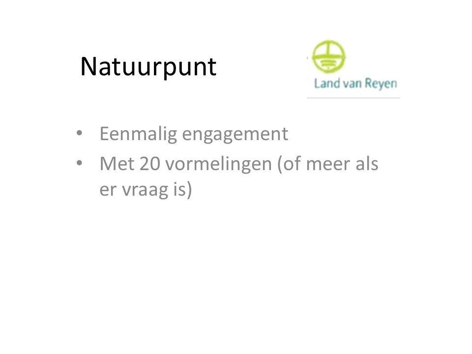 Natuurpunt Eenmalig engagement Met 20 vormelingen (of meer als er vraag is)
