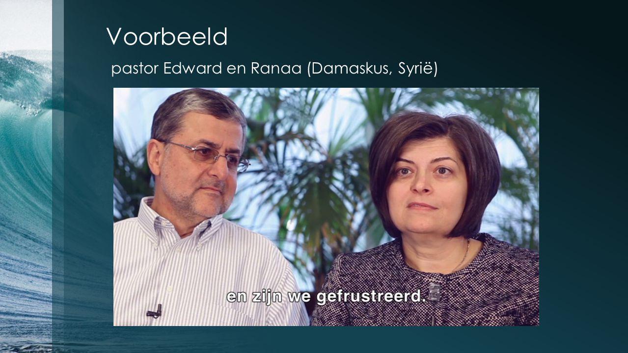 Voorbeeld pastor Edward en Ranaa (Damaskus, Syrië)