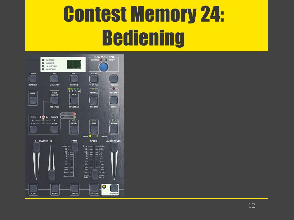 Contest Memory 24: Bediening 12