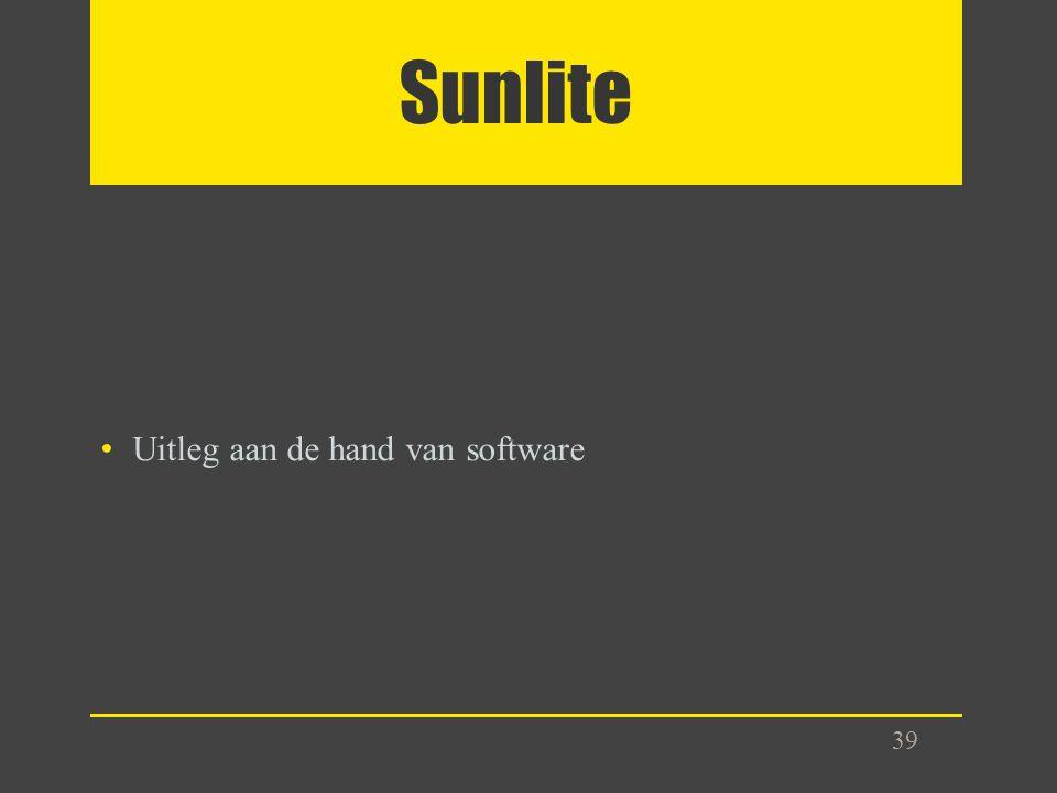 Sunlite 39 Uitleg aan de hand van software