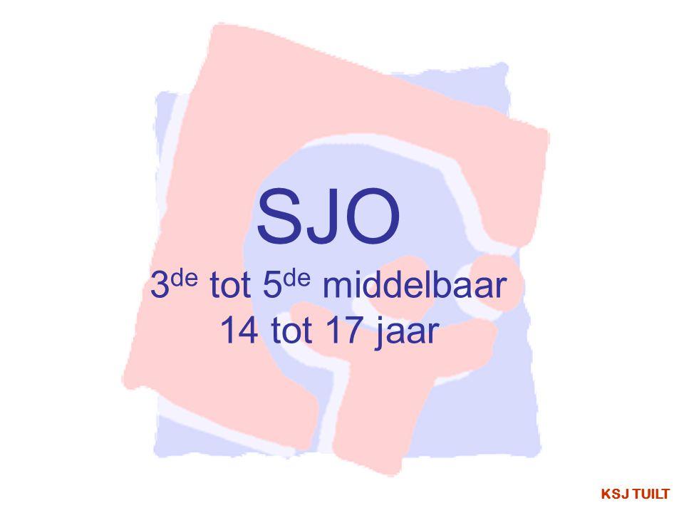 KSJ TUILT SJO 3 de tot 5 de middelbaar 14 tot 17 jaar