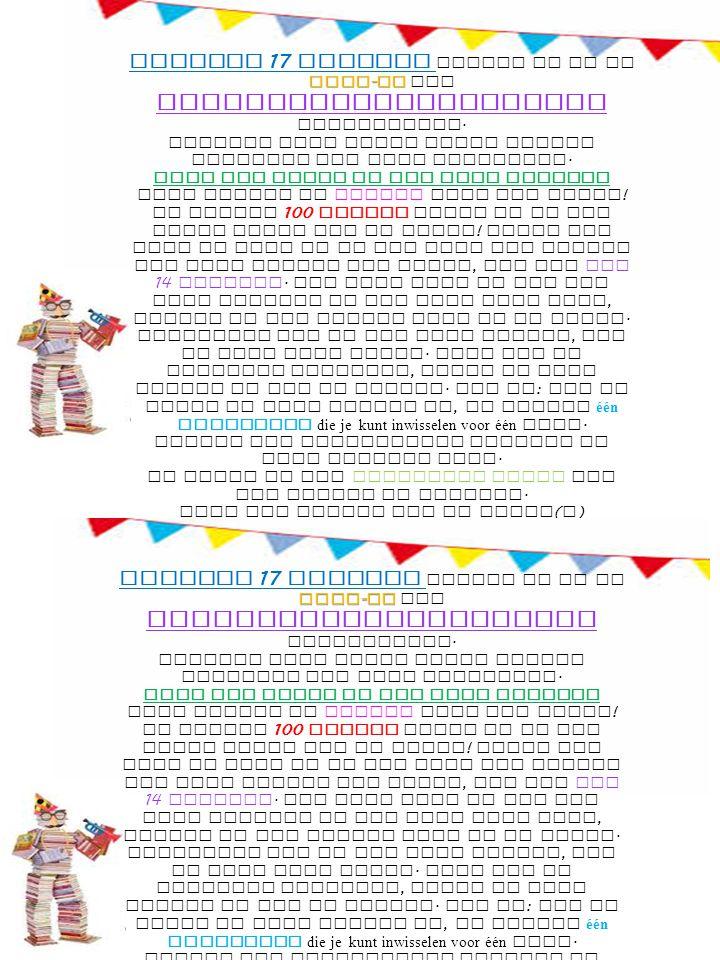 sing - in Vrijdag 17 oktober willen we na de sing - in een kinderboekenruilmarkt organiseren.