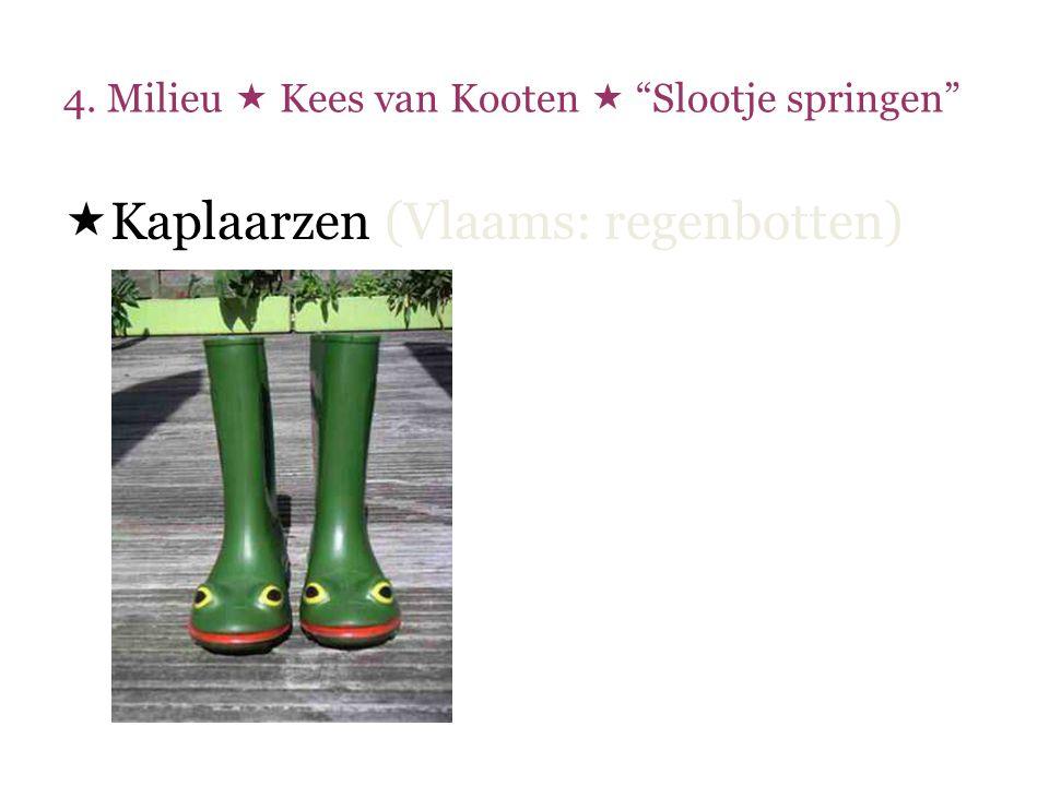 4.Milieu  Kees van Kooten  Slootjespringen  Het kost niet veel moeite om ………..