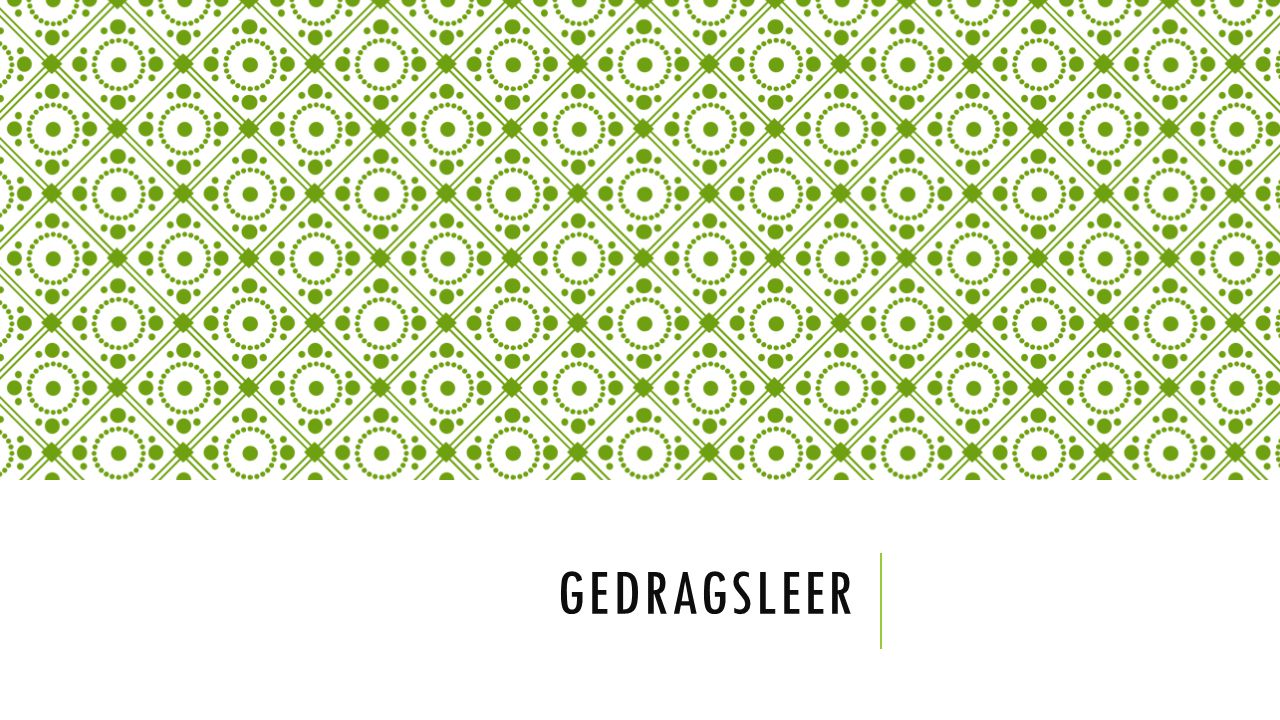 GEDRAGSLEER