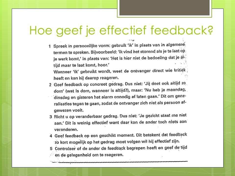 Hoe geef je effectief feedback?