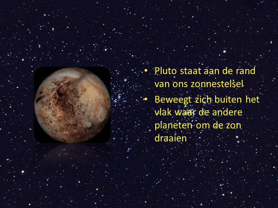 Manen Pluto New Horizons zal in 2015 Pluto en zijn manen fotograferen De drie manen zijn: Charon, Nix en Hydra