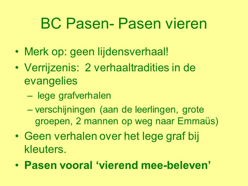 BC Pasen- Pasen vieren Merk op: geen lijdensverhaal.