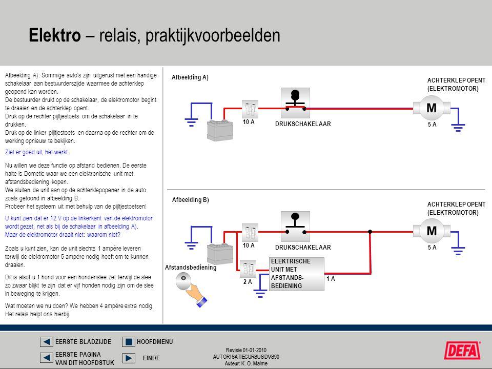 Revisie 01-01-2010 AUTORISATIECURSUS DVS90 Auteur: K. O. Malme Revisie 01-01-2010 AUTORISATIECURSUS DVS90 Auteur: K. O. Malme Elektro – relais, prakti