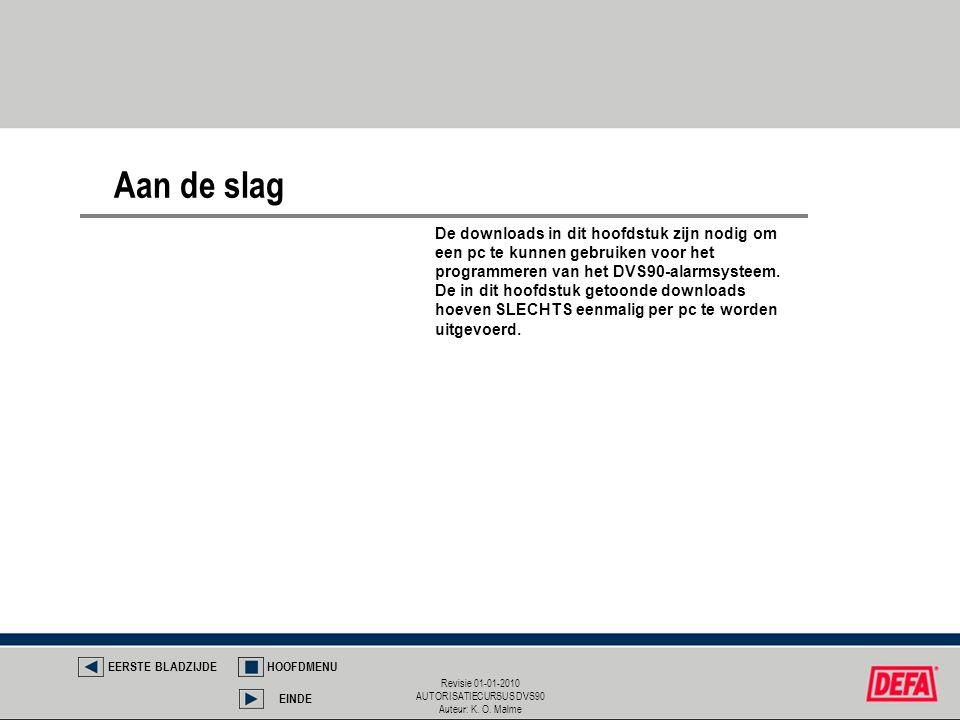 Revisie 01-01-2010 AUTORISATIECURSUS DVS90 Auteur: K. O. Malme De downloads in dit hoofdstuk zijn nodig om een pc te kunnen gebruiken voor het program