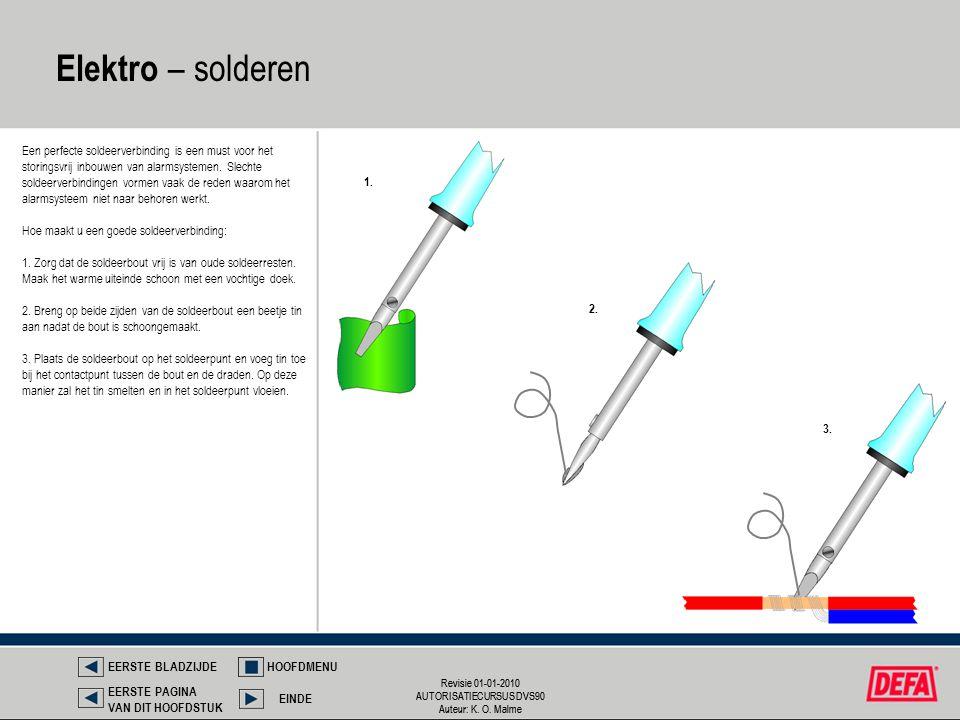 Revisie 01-01-2010 AUTORISATIECURSUS DVS90 Auteur: K. O. Malme Revisie 01-01-2010 AUTORISATIECURSUS DVS90 Auteur: K. O. Malme Elektro – solderen Een p