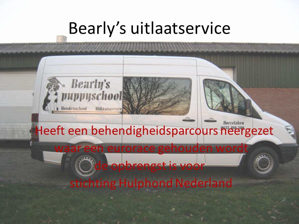 Bearly's uitlaatservice Heeft een behendigheidsparcours neergezet waar een eurorace gehouden wordt de opbrengst is voor stichting Hulphond Nederland