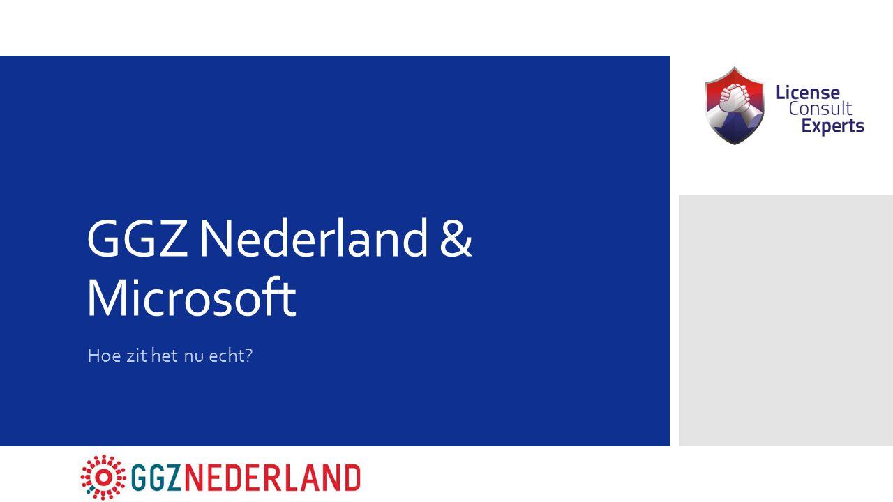 GGZ Nederland & Microsoft Hoe zit het nu echt?