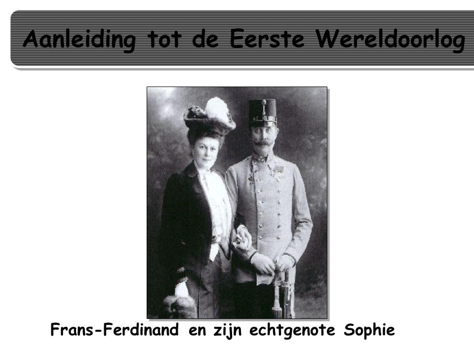 Frans-Ferdinand en zijn echtgenote Sophie Aanleiding tot de Eerste Wereldoorlog
