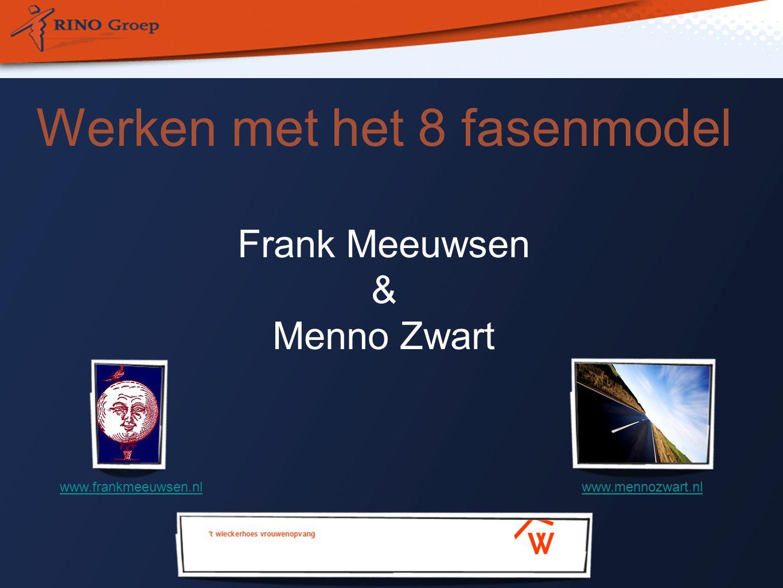 Werken met het 8 fasenmodel Frank Meeuwsen & Menno Zwart www.frankmeeuwsen.nlwww.mennozwart.nl
