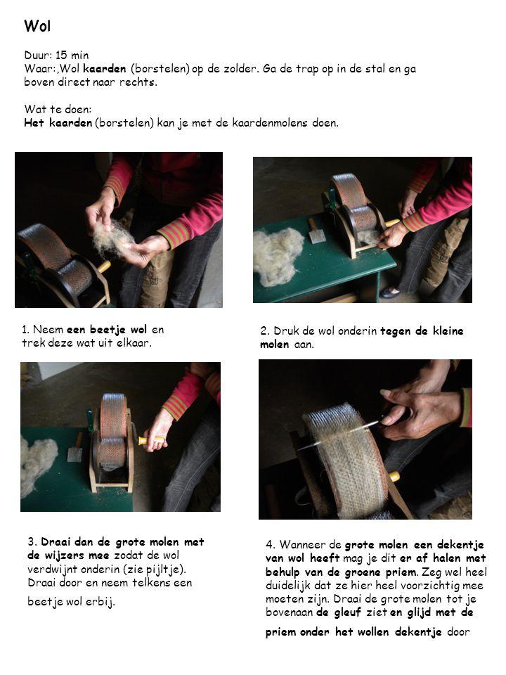 7.De restjes kan je gerust met de borstels afhalen.