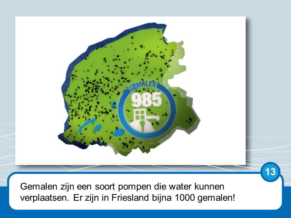 Sluizen spuien het boezemwater naar zee. Bijvoorbeeld de spuisluis bij Dokkumer Nieuwe Zijlen. 14