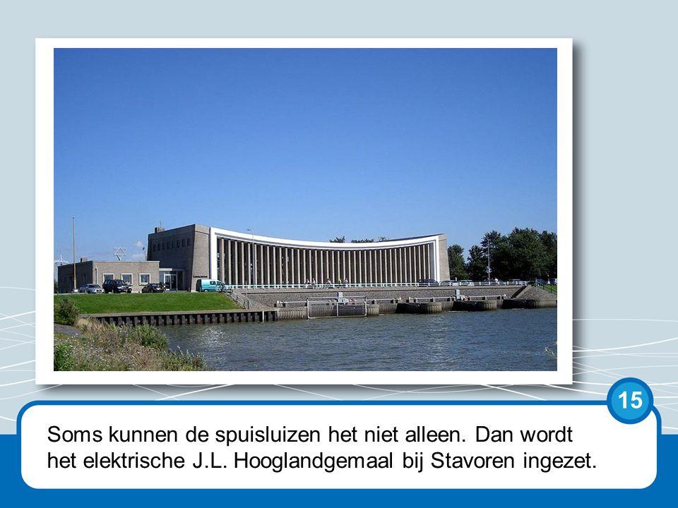 Als het Hooglandgemaal het ook niet meer aan kan, komt het Woudagemaal in Lemmer in actie. 16