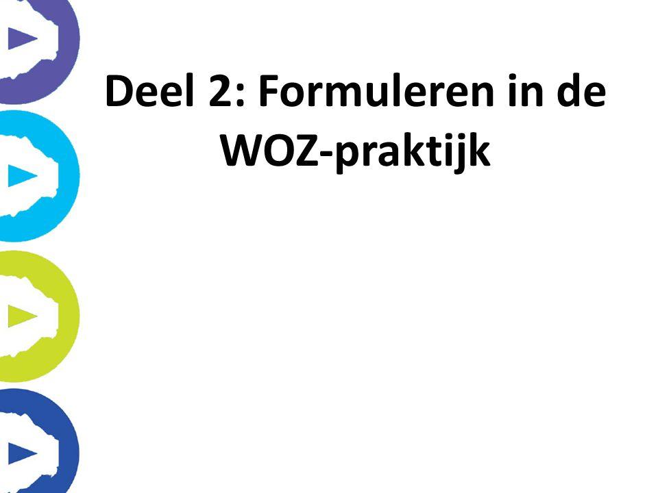 Deel 2: Formuleren in de WOZ-praktijk