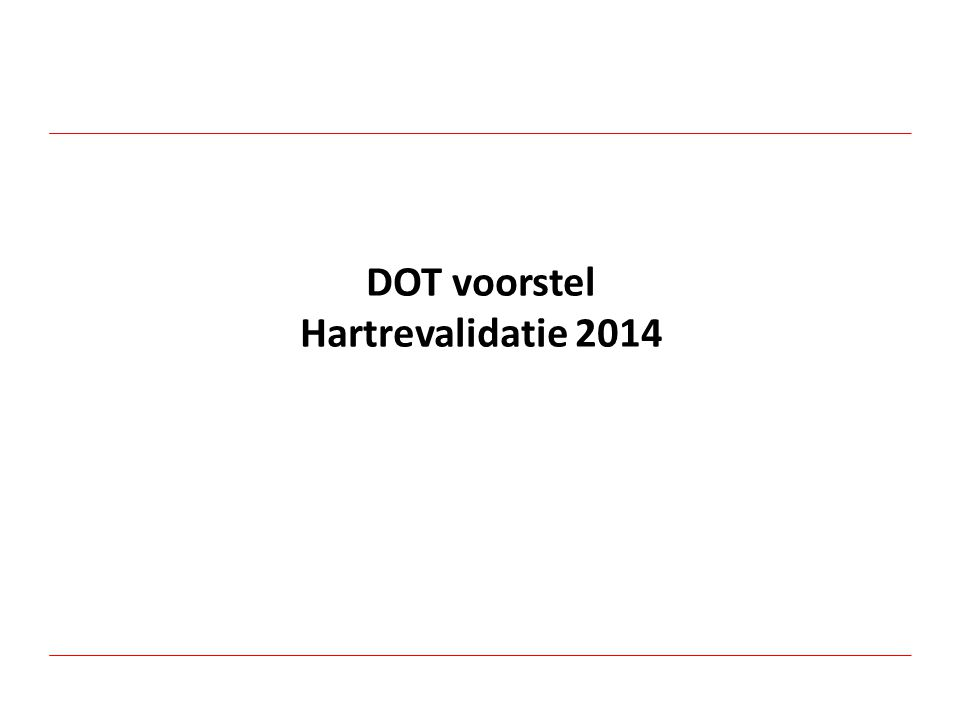 DOT voorstel Hartrevalidatie 2014