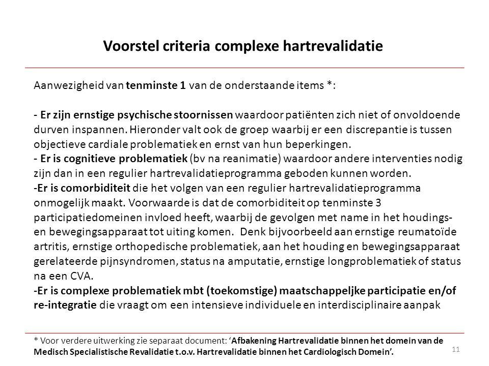11 Aanwezigheid van tenminste 1 van de onderstaande items *: - Er zijn ernstige psychische stoornissen waardoor patiënten zich niet of onvoldoende dur