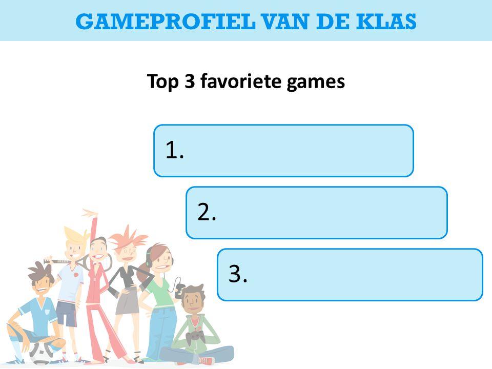 Top 3 favoriete games 1.2.3. GAMEPROFIEL VAN DE KLAS