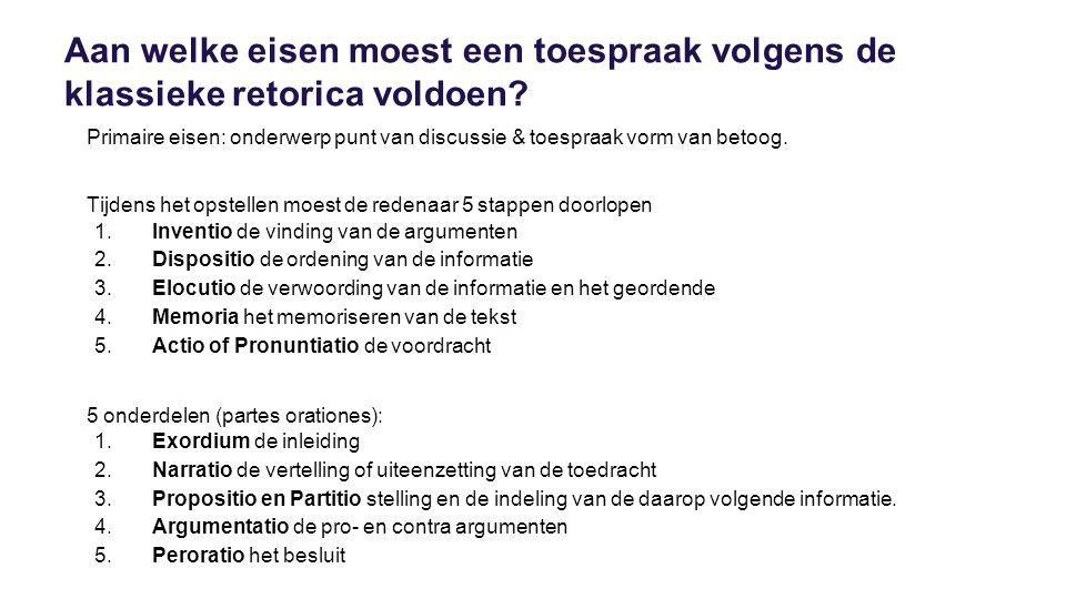 Conclusie Voldoen huidige leiders aan de idealen op het gebied van retorica, non-verbale communicatie en uiterlijke verschijning die in de Oudheid aan een leider gesteld werden.