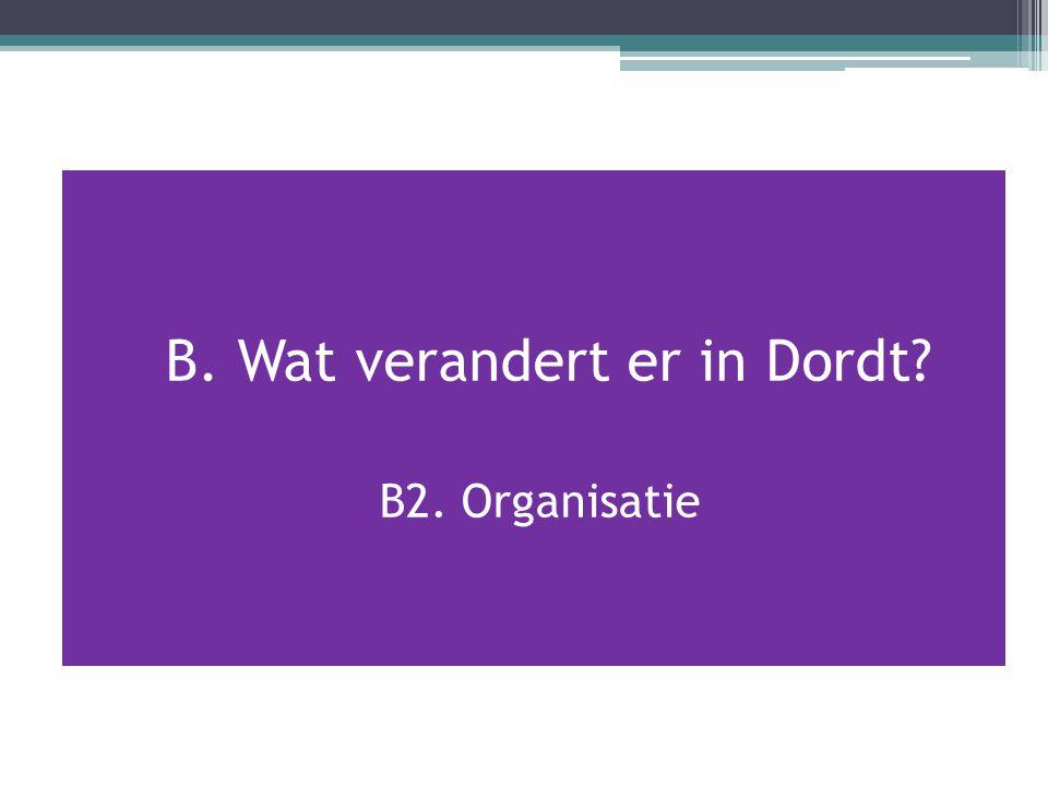 B. Wat verandert er in Dordt? B2. Organisatie