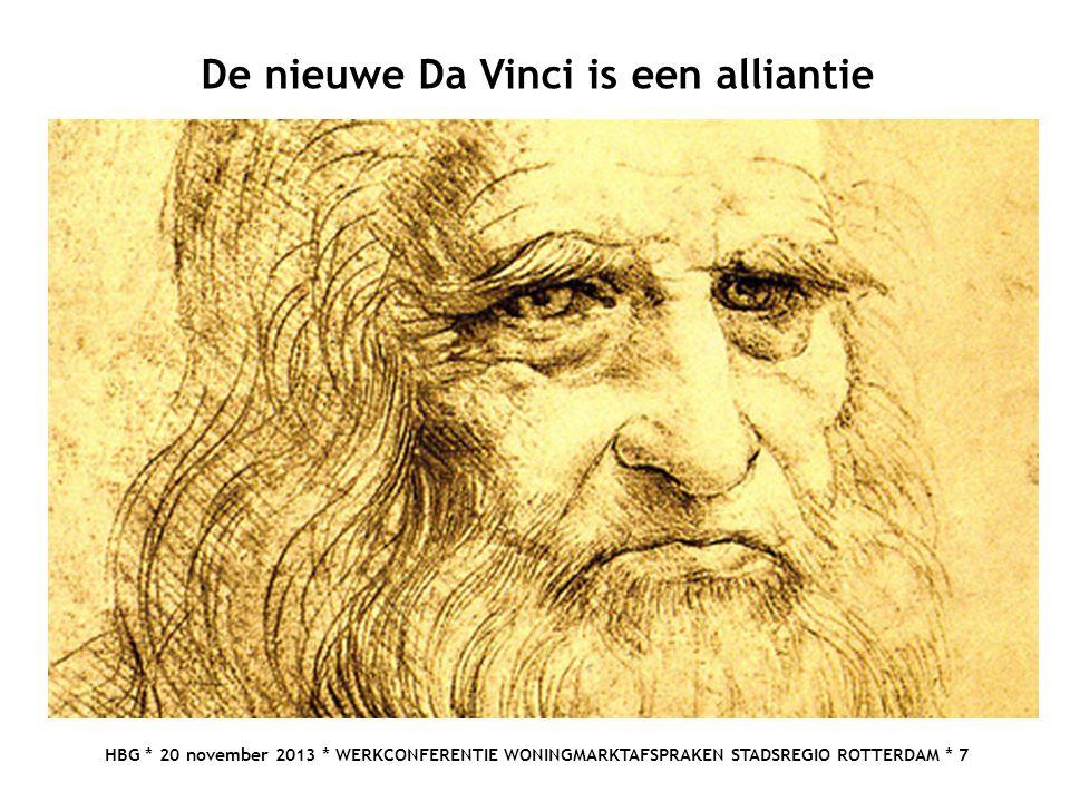 HBG * 20 november 2013 * WERKCONFERENTIE WONINGMARKTAFSPRAKEN STADSREGIO ROTTERDAM * 7 De nieuwe Da Vinci is een alliantie