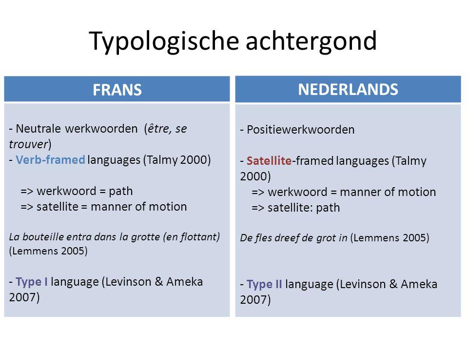 Problematisch onderwerp voor leerders Typologische verschillen tussen het Frans en het Nederlands 3 typen problemen (Lemmens 2002) – Codeerverplichting Positiewerkwoord i.p.v.