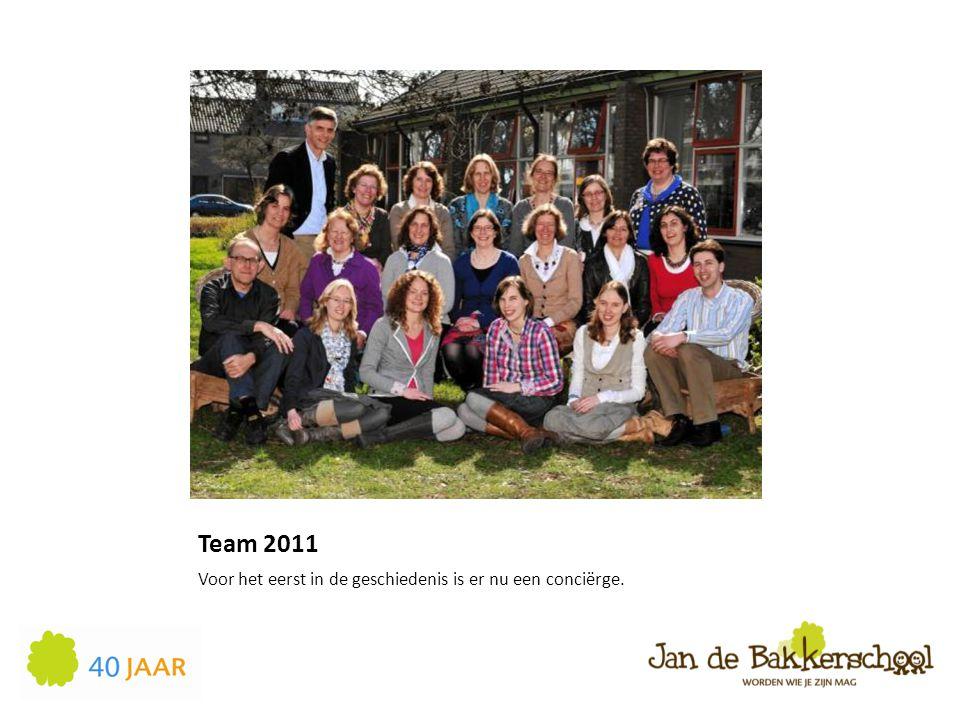 Team 2011 Voor het eerst in de geschiedenis is er nu een conciërge.