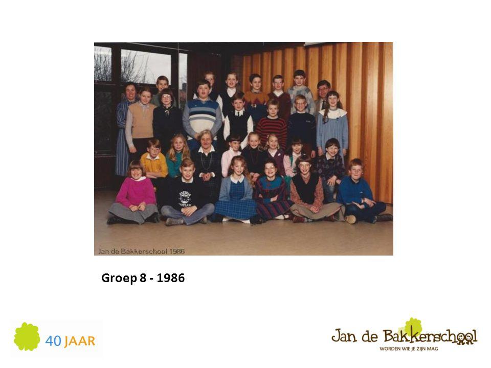Groep 8 - 1986