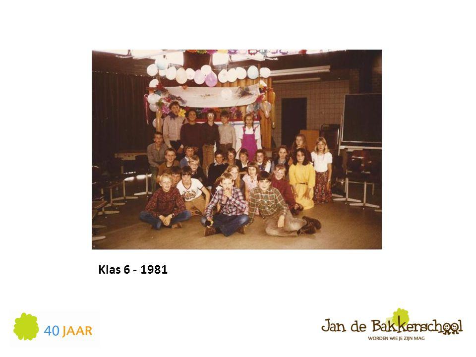 Klas 6 - 1981