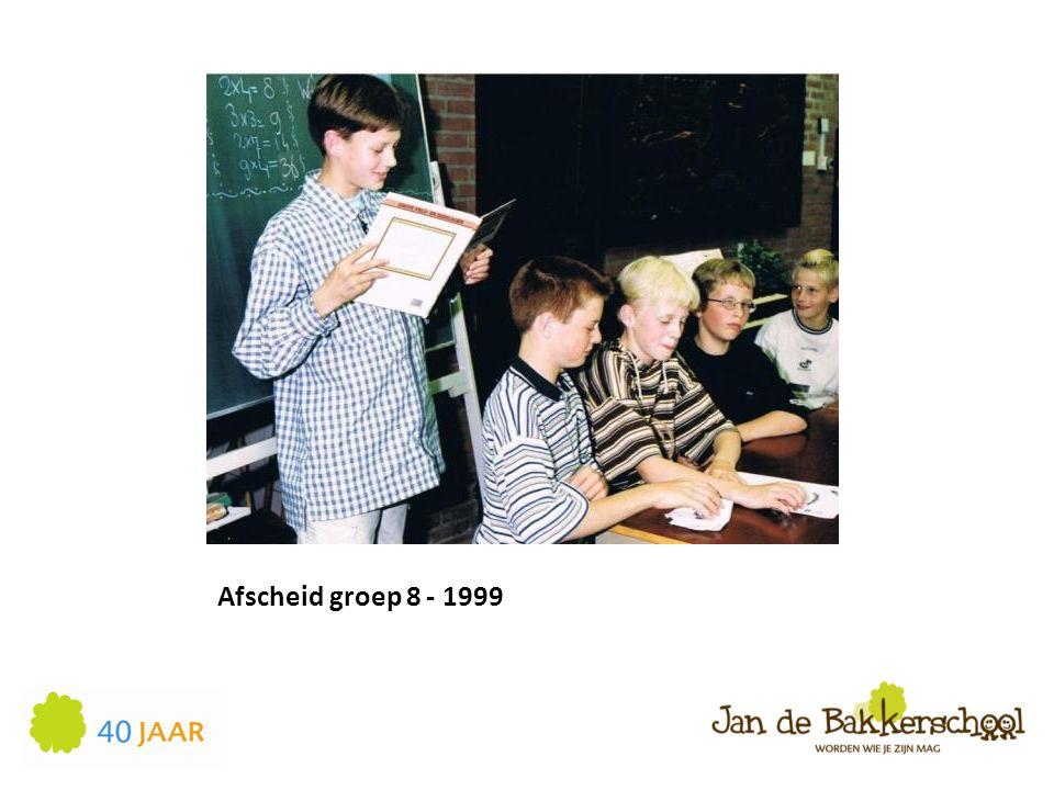 Afscheid groep 8 - 1999