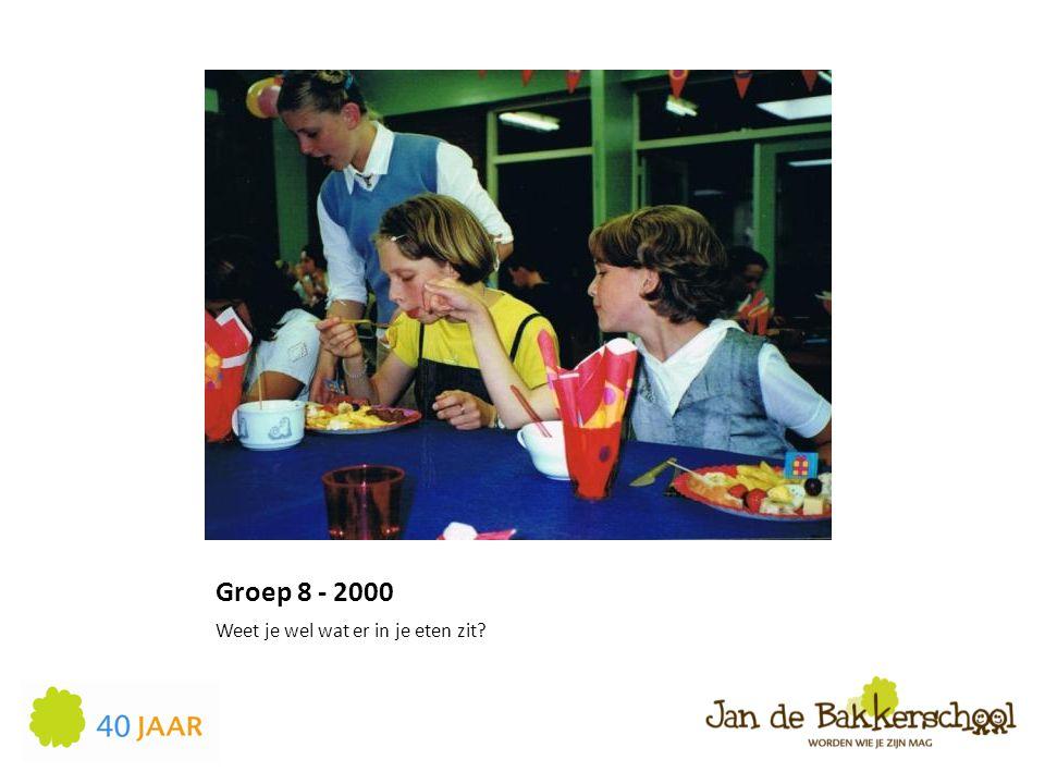 Groep 8 - 2000 Weet je wel wat er in je eten zit?