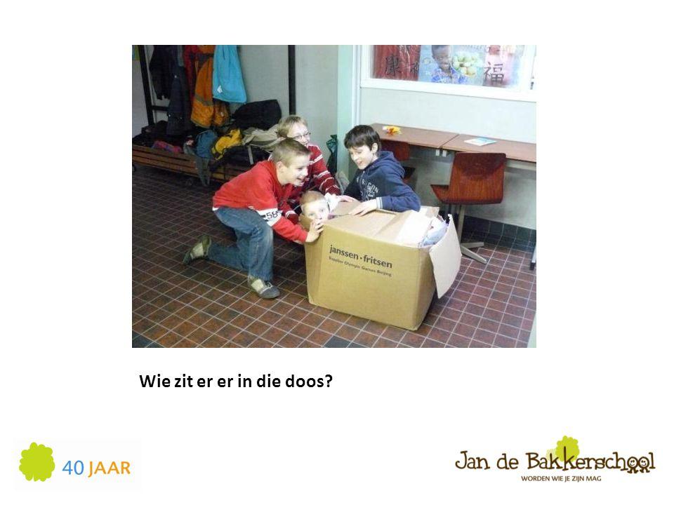 Wie zit er er in die doos?
