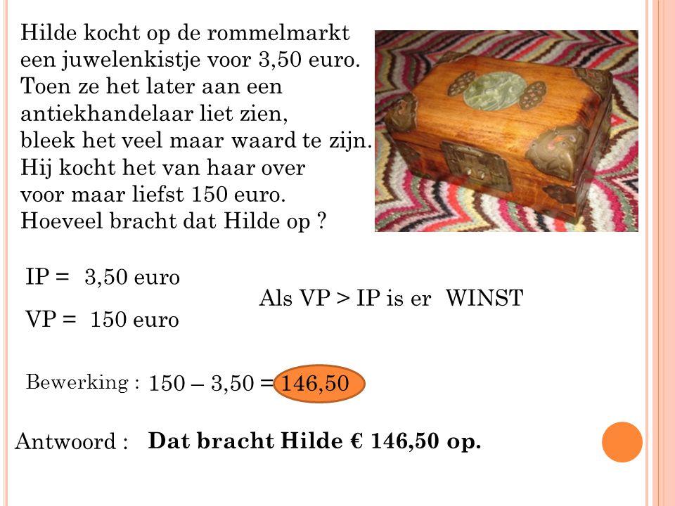 Hilde kocht op de rommelmarkt een juwelenkistje voor 3,50 euro. Toen ze het later aan een antiekhandelaar liet zien, bleek het veel maar waard te zijn