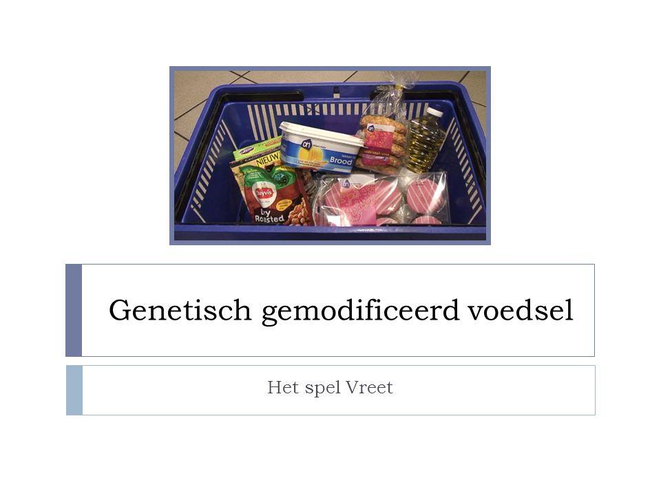 Genetisch gemodificeerd voedsel Het spel Vreet