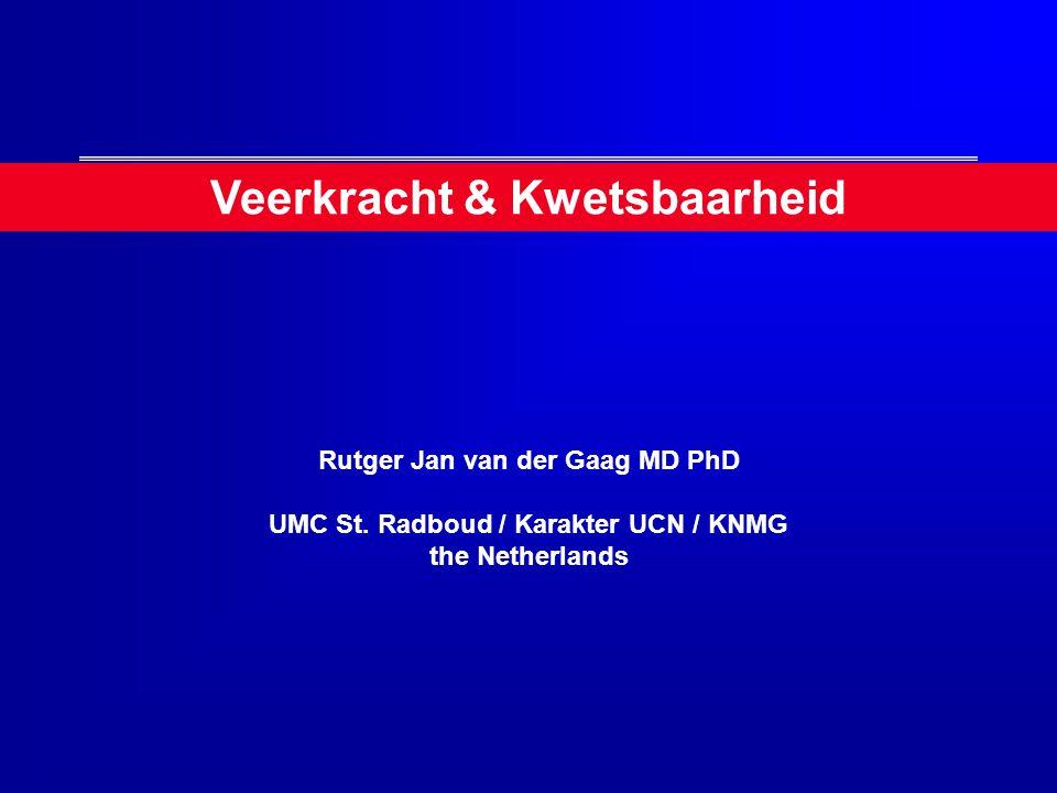 Veerkracht & Kwetsbaarheid Rutger Jan van der Gaag MD PhD UMC St. Radboud / Karakter UCN / KNMG the Netherlands