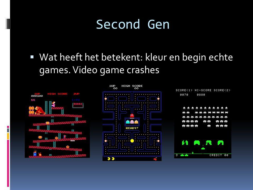 Eighth Gen 2013-nu  Game consoles: Playstation 4, Xbox One, Wii U, Nintendo 2DS, Steam MachineNintendo 2DS  Famous games: New Super Mario Bros.