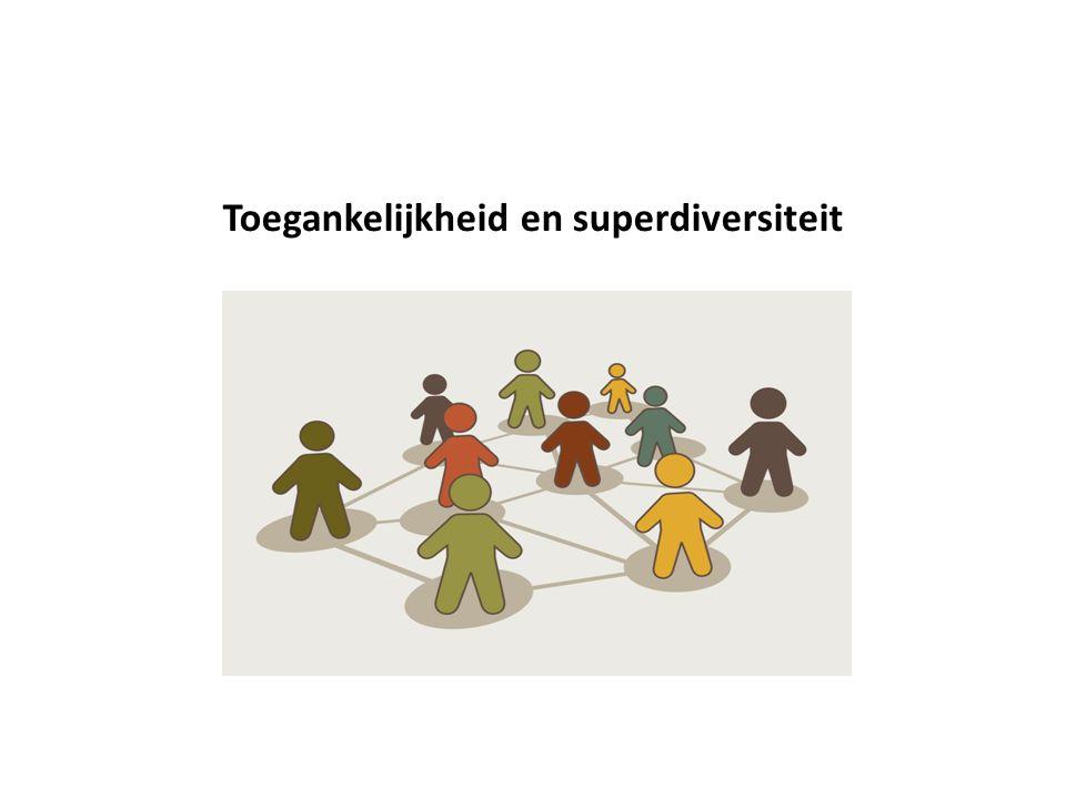 Algemene tendenzen aan de cliëntzijde Evolutie naar superdiversiteit Sterke toename van ECM Groeiende diversiteit binnen de diversiteit Zeer ongelijke spreiding van de diversiteit Toekomst toename naar landelijke gebieden